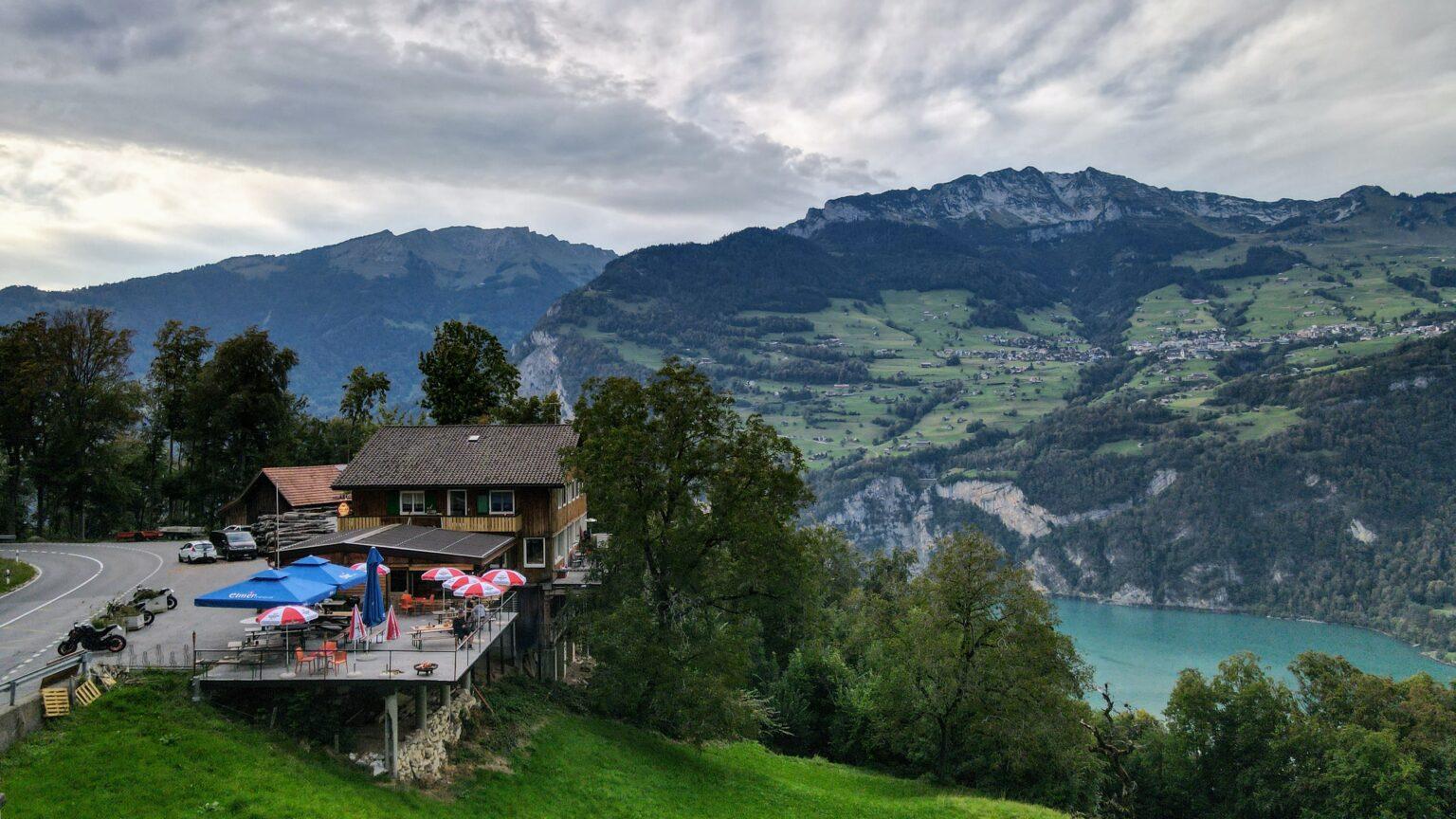 Drohnenaufnahme Hotel Cafe Seeblick